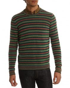 kenzo / glace striped green sweater