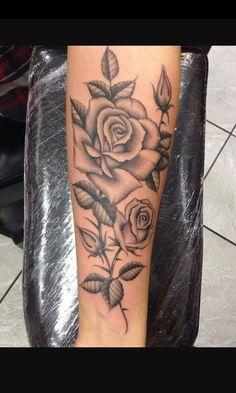 Roses tattoo art family love