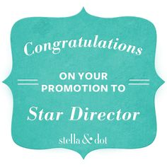 Congratulations on your promotion to Star Director Badge | Exclusively for Stylists | Stella & Dot UK/IE
