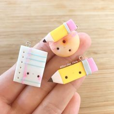 #kawaii #charms #polymer #clay #pencil #sheet #donut