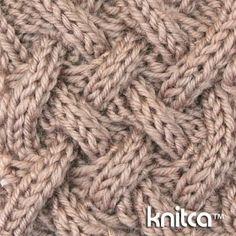 Wrong side of knitting stitch pattern – Cable 11 : www.knitca.com