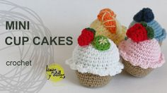 Tutorial Mini Cupcakes Amigurumi Crochet o Ganchillo – Food recipes Crochet Cake, Crochet Amigurumi, Crochet Food, Love Crochet, Amigurumi Patterns, Crochet For Kids, Diy Crochet, Crochet Dolls, Crochet Patterns