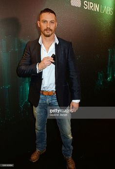 Tom Hardy attends as SIRIN LABS Launches SOLARIN at One Marylebone on May 31, 2016 in London, England.