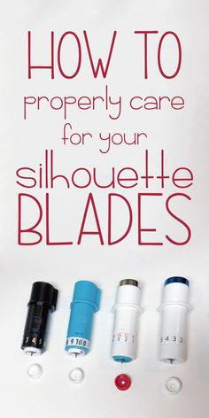 Caring for your Silhouette blade will ensure the longest life possible. Plotter Silhouette Cameo, Silhouette Cutter, Silhouette School, Silhouette Cameo Machine, Silhouette America, Silhouette Cameo Projects, Silhouette Design, Silhouette Files, Silhouette Cameo Boxes