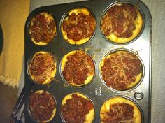 Spaghetti cups!(: take left over spaghetti and take crescent rolls in the cupcake pan and make cups. Then put the spaghetti in the cups and bake at 400 degrees for 11 minutes!