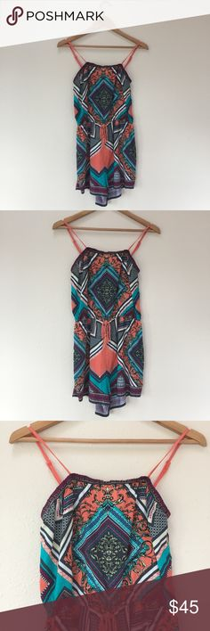 Flying Tomato Hippie Boho Printed Romper Size M Excellent condition Flying Tomato Pants Jumpsuits & Rompers