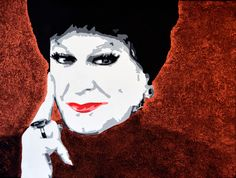 Portrait of Pieter-Dirk Uys as Evita Bezuidenhout by David Mack. Acrylic on canvas