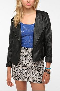 Urban Outfitters faux-leather jacket