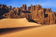 Eroded landscape in Tassili du Hoggar, Sahara, Algeria