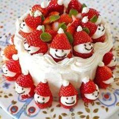 Strawberry Santa Cake  – Holidays