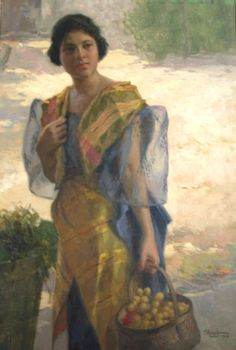 """Fernando Amorsolo y Cueto, Filipino painter, was an important influence on contemporary Filipino art and artists, even beyond the so-called """"Amorsolo school"""". Subjects: Philippine Genre, historical and society Portraits. Arte Filipino, Filipino Culture, Filipino House, Traditional Paintings, Traditional Art, Philippine Art, Philippine Women, Philippines Fashion, Philippines Dress"""