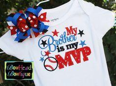 My Brother is my MVP  Baseball Sports by BowHeadBowtiqueInc