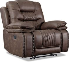 Value City Furniture, Power Recliners, Sorrento, Living Room, Brown, Manual, Homes, Products, Home Decor