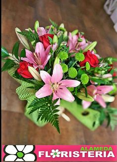 Ramo de flores elaborado por Floristeria Alameda en Cartagena