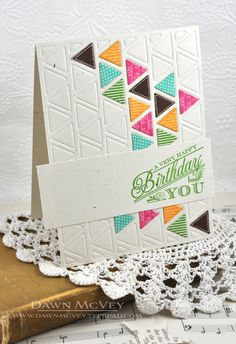 Birthday Triangles Card by Dawn McVey for Papertrey Ink (May 2013)