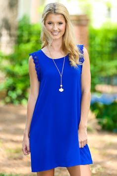 f8d5ad777a2 EVERLY No Greater Love Dress-Royal