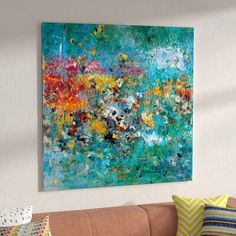 Handmade Oil Painting On Canvas Abstract Painting Oil Painting Landscape Abstract Batman Art Ultramarine Blue Oil Paint Van Gogh Famous Paintings Monet Lilies Oil Painting Abstract, Abstract Wall Art, Painting Prints, Painting Art, Watercolor Painting, Watercolor Artists, Painting Lessons, Painting Clouds, Spring Painting