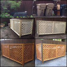 Diy Trash Can Screen Garbage Enclosure Fence Images