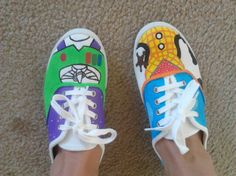 toy story Hand Painted shoes on Etsy, $50.00