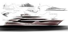 Icon 73 Milano Yacht by Hot Lab Design - Original Sketch