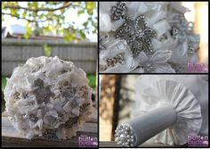 Comment and tell us if you would have a #fabricbouquet for your #weddingday  #Fabric #flowers can also make #beautiful #bouquets.  This one is assembled using #fabrics such as #chiffon #silk #organza #tulle and #lace - We handsew each flower and then finish off with beautiful #crystals #pearls #rhinestones and #brooches  These are perfect for the #bride that wants a #soft look for her #flowers  www.nicsbuttonbuds.com.au www.facebook.com/nicsbuttonbuds www.pinterest.com/nicsbuttonbuds…