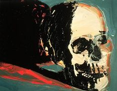 andy warhol, skull 1977