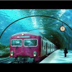 Subway station under the sea in venice this is just amazing
