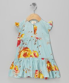 Take a look at this Yo Baby Blue Floral Angel-Sleeve Dress - Infant on zulily today! Fashion Kids, Little Girl Dresses, Girls Dresses, Moda Kids, Hipster Babies, Angel Sleeve, Stylish Kids, Stylish Baby, Glamour