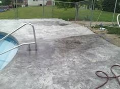 concrete stain around pool | backyard | pinterest | concrete