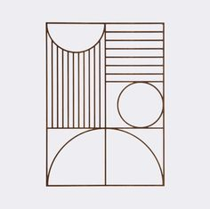 The Bauhaus inspired Outline Wall Deco is a light and stylish wall piece, which you can easily mix in to your other wall decorations or use as an individual pie