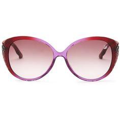 Swarovski Women's Dana Cat Eye Sunglasses (5.375 RUB) ❤ liked on Polyvore featuring accessories, eyewear, sunglasses, swarovski sunglasses, swarovski glasses, purple lens sunglasses, swarovski eyewear and gradient lens sunglasses