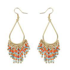 Shyanne® Women's Beaded Teardrop Dangle Earrings