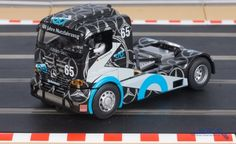 This 100 Year Anniversay liveried truck was driven by Heinz Dehnhardt. This is a very High Detail Slot Car. Real Racing, Slot Cars, Trucks, Kid, Dreams, Vehicles, Shop, Cars, Slot Car Tracks