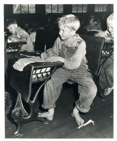 Coal miner's child in grade school. Lejunior, Harlan County, Kentucky 1946 - by Russell Lee (1903 - 1986), USA