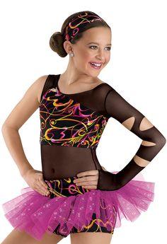 Funky Print Top and Tutu Shorts; Weissman Costumes