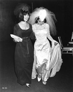 Annette Funicello and bridesmaid Shelley Fabares, January 9, 1965.