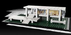 Farnsworth House with Legos