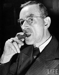 Thomas Mann (1875 – 1955) was a German novelist, short story writer, social critic, philanthropist, essayist, and 1929 Nobel Prize laureate, known for his series of highly symbolic and ironic epic novels and novellas, noted for their insight into the psychology of the artist and the intellectual.