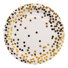 Gold Confetti Party Plates : The Party Cupboard Online Party Supplies Store Australia Party Napkins, Party Plates, Party Cups, Party Tableware, Napkins Set, Dinner Plates, Party Supply Store, Christening Party, Invitation