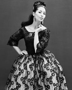 """China Machado in YSL first collection for Dior 1958 by Avedon #style #fashion #allure #glamour…"""""""