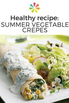 Crepes aren't just a dessert-like indulgence — they can also make a light and healthy dinner entree, just perfect for a carefree summer night. #creperecipe #everydayhealth | everydayhealth.com