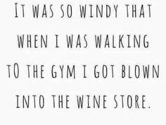 Blown into the wine store