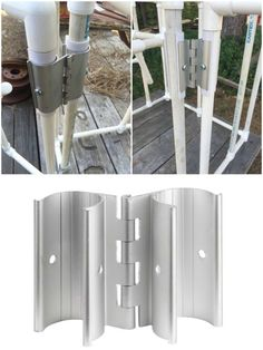 PVC Snap Hinge. Now I can easily make doors and vents on my PVC greenhouse! Thank You Circo Innovations! www.circoinnovati...http://pinterest.com/pin/449797081515105089/
