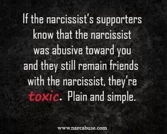 There's no point in thinking that you can get free of the narcissist and still remain friends with their flying monkeys. You are going to have to limit contact with their circle of admirers.