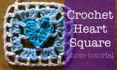 Pretty Crocheted Heart Square: Photo tutorial part 2 is up! •✿• Teresa Restegui http://www.pinterest.com/teretegui/ •✿•