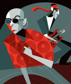 Awesome Character Illustrations by Pablo Lobato Character Illustration, Graphic Design Illustration, Illustration Art, Art Pop, Pop Rock Nacional, Pablo Picasso, Painted Hats, Jazz Poster, Famous Cartoons