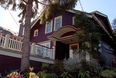 Seattle Queen Anne Burgundy Shingle Style House