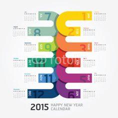 2015 Calendar / 2015 Happy new year. Calendar design.