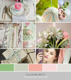 pink and mint #wedding #gamos