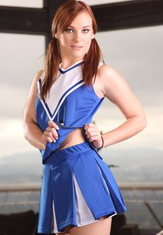 Hair Color Blue, Blue Hair, Dani Jensen, Hot Cheerleaders, 34c, Sexy Legs, Cheerleading, Redheads, Beauty Women